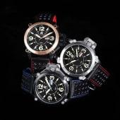 Herren-Armbanduhr Edelstahl/Leder Katalogbild
