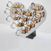 "Edelstahl Gourmet-Display ""Flirt"" inkl. 12 Gourmetlöffel, Edelstahl Vorderansicht"