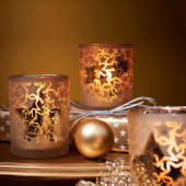 Teelichthalter Gold Star, Glas Katalogbild