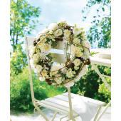 Kranz Blüten, Polyester/ Rattan, ca. Durchmesser 38 cm Katalogbild