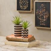 Kunstpflanze Schwertgras im Jutebeutel, in zwei Größen, Natur-Look, PE, Polyschaum, Jute Katalogbild