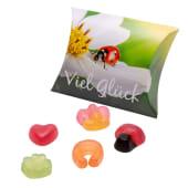 Präsent-Schachtel-Set, 5-tlg., Viel Glück, je gefüllt mit 50g Fruchtgummi Vorderansicht