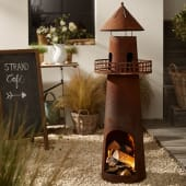 Feuerstelle Leuchtturm - Terrassenofen in Rost-Optik - Metall - ca. H136 cm x Ø 45 cm Katalogbild