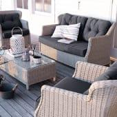 Outdoor-Sofa Firenze, inkl. Auflagen, klassisch, Kunststoffrattan Katalogbild