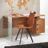 Schreibtisch San Francisco, Seitenteile aus Glas, 3 Schubladen Katalogbild