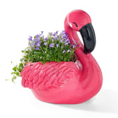 Übertopf Flamingo, Kunststoff, ca. 25 cm hoch Katalogbild