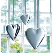 Dekohänger-Set Hearts, 3-tlg., glänzend, Metall Katalogbild