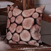 Kissenhülle Holzscheite, Fotodruck, Polyester Katalogbild