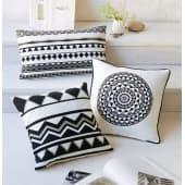 Kissenhülle Black & White, 100% Baumwolle Katalogbild