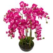 Kunstpflanze Daphne, mit Übertopf, Stoff, Höhe ca. 83 cm Vorderansicht