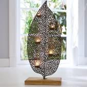 Teelichthalter Leaves, Höhe ca. 69 cm Katalogbild
