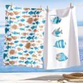 Geschirrtuch-Set, 2-tlg. Fische, 2 unterschiedliche Prints, 100% Baumwolle, jeweils ca. L70 x B50 cm Katalogbild