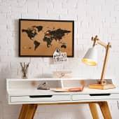 Pinnwand Weltkarte, inklusive 6 Pins, Kork Katalogbild