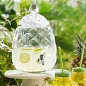 Getränkespender Ananas, mit Zapfhahn, Glas, 6 Liter Katalogbild