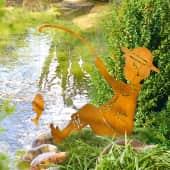 Gartenstecker Angler, in Rost-Optik, Höhe ca. 64 cm Katalogbild