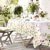 Tischdecke Sommergarten, bunter Druck, 100% Baumwolle, ca. L250 x B150 cm Katalogbild