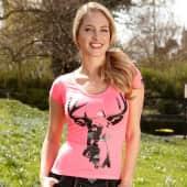 """Damenshirt """"Josey"""", Hirschprint auf Rückseite Katalogbild"""