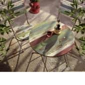 Gartenmöbel Set Rainbow Aus Holz Und Metall 3 Tlg Holz Metall