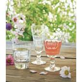 Wasserglas-Set, 6-tlg. Letters, spülmaschinengeeignet, Glas Katalogbild