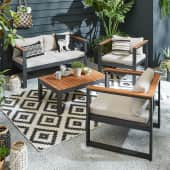 Outdoor-Lounge-Set mit 2er-Bank Kos Katalogbild