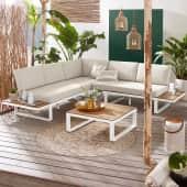 Outdoor-Lounge-Set, 2-tlg. Mila, wasserabweisende Bezüge, Clean chic Katalogbild