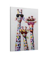 Bild Giraffen, Leinwand Vorderansicht