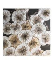 Bild Silver Lotus, Leinen, Acrylfarbe, Kiefernholz Vorderansicht