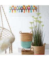 Kunstpflanze Frühlingsgras, Kunststoff, ca. H120 cm Vorderansicht
