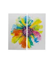 Bilder-Set Flower, 2-tlg, Holz Vorderansicht