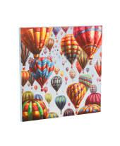 Bild Bunte Ballons, Handgemalt, Acryl auf Leinwand, ca. B80 x H80 x T3 cm Vorderansicht