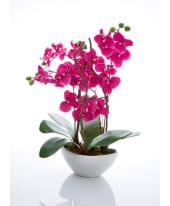 Kunstpflanze Orchidee, mit Übertopf, Höhe ca. 70 cm Vorderansicht