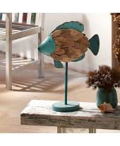 Deko-Figur Fisch, Holz, Metall, Höhe ca. 50 cm Katalogbild
