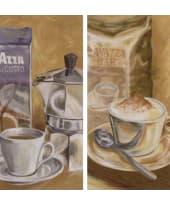 """Bild """"Espresso/Cappuccino"""", 23x49 cm, 2er-Set Vorderansicht"""