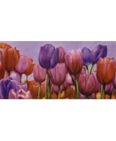"""Bild """"Campo di tulipani"""", 100x50 cm Vorderansicht"""