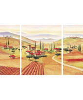 """Bild """"Triptychon Toskana"""", 2x 20/50 cm, 1x 40/50 cm Vorderansicht"""