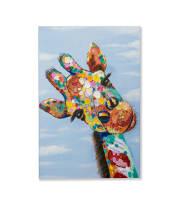 Bild Giraffe, Handgemalt, Holz, ca. 60 x 90 cm Vorderansicht