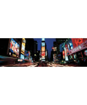 "Bild ""Times Square at night"", 150x50 cm Vorderansicht"