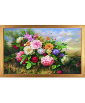 """Bild """"Bouquet of flowers"""", 106x66 cm Vorderansicht"""