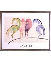 """Bild """"Cavalli"""", 84x64 cm Vorderansicht"""
