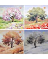 """Bild """"4 Jahreszeiten"""", 30x30 cm, 4er-Set Vorderansicht"""