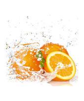 """Bild """"orange fruits with splashing water"""" Vorderansicht"""
