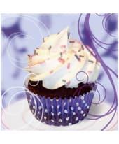 """Bild """"Cupcake on violett"""" Vorderansicht"""