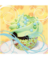 "Bild ""Cupcake on yellow"" Vorderansicht"