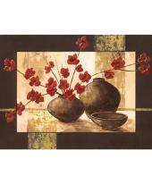 """Bild """"Stillleben mit roten Blüten"""" Vorderansicht"""