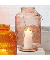 Windlicht Colori, Glas, Henkel aus Metall Katalogbild