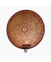 Teelichthalter Oriental, orientalischer Look, Metall, ca. B19 x T8 x H21 cm Vorderansicht