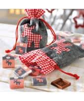 Weihnachtsbeutel, mit Füllung Elch, ca. 100g Schokolade Katalogbild