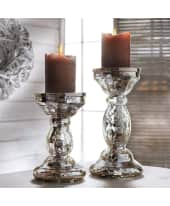 Kerzenhalter, Bauernsilber, Glas Katalogbild