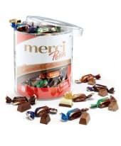 Merci Petits Chocolate Collection Runddose 1000g Vorderansicht