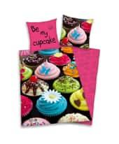 Bettwäsche Cupcakes 100% Baumwolle Vorderansicht